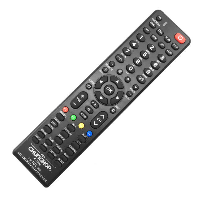 US $4 97 30% OFF|CHUNGHOP Remote Control E t908 For TCL Use LCD LED HDTV 3D  SMART TV Function remote controller-in Remote Controls from Consumer