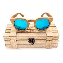 Бобо птица одежда бамбука Круглый Солнцезащитные очки для женщин Для женщин Элитный бренд Дизайн поляризационные Защита от солнца Очки Для мужчин с деревянной подарочной коробке 2017 C-BG011d