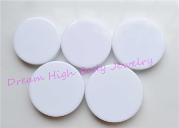 White Expander Ear Plugs Flat Flesh Tunnel Acrylic DOUBLE FLARE STRETCHER Taper 32mm to 50mm large size Body Piercing Jewelry