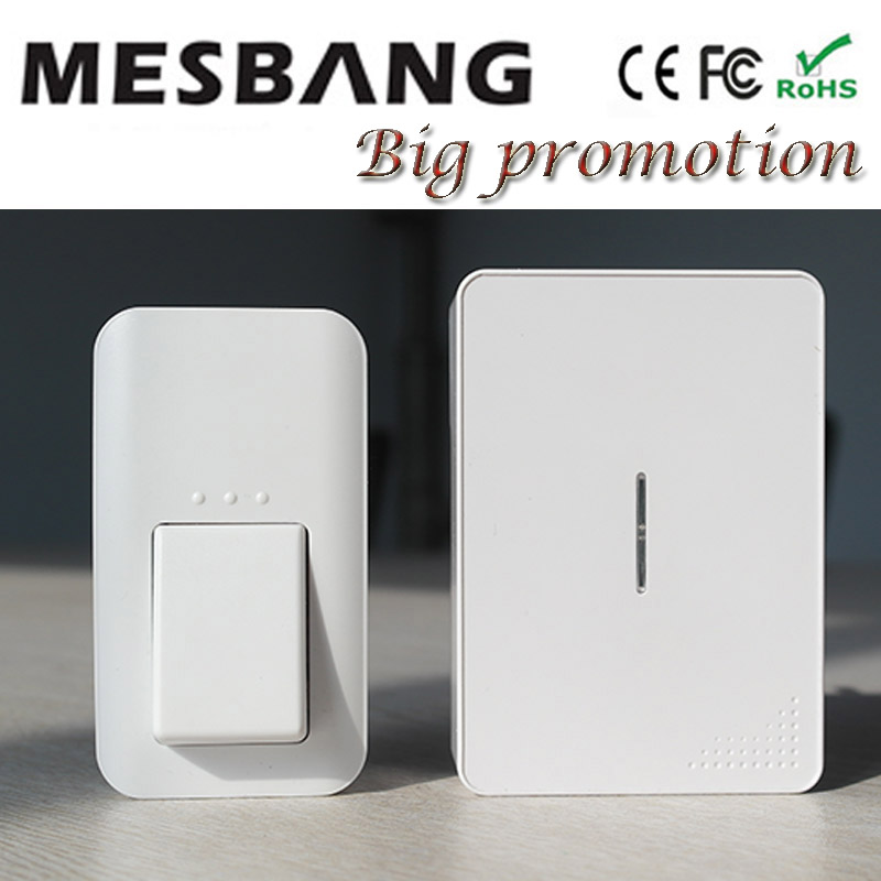 где купить New  wireless doobell Door bell  Wireless Doorbell ring  With indoor Chime hmz433 Easy to install no need battery по лучшей цене