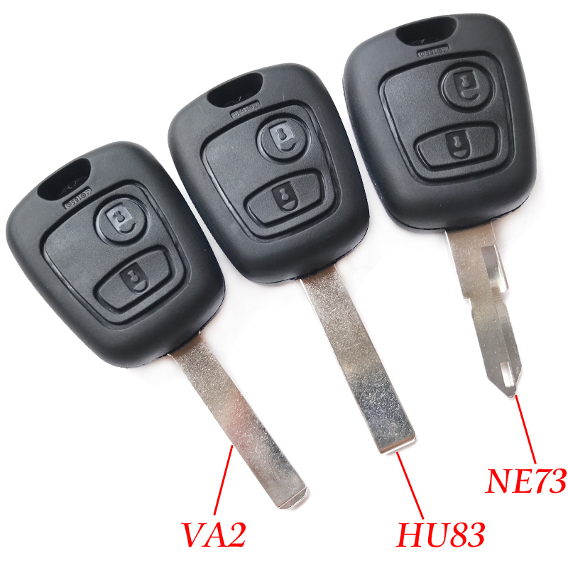 2 Buttons Car <font><b>Key</b></font> Shell For <font><b>Peugeot</b></font> 106 107 206 207 306 307 <font><b>406</b></font> 407 106 206 306 <font><b>406</b></font> D05 Replaceable <font><b>Remote</b></font> <font><b>Key</b></font> Blank Fob Case image