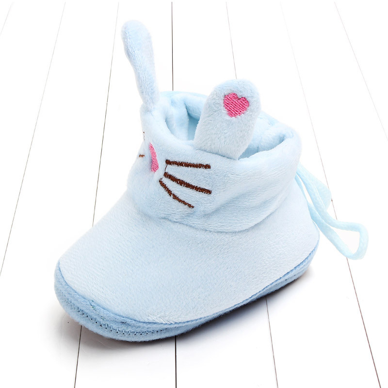 Indoor First Walkers Baby Shoes Cotton Anti-slip Booties Winter Wammer Baby Girl Boy Shoes Newborn Slippers Footwear Booties (25)