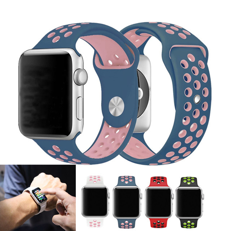 Brand Sports silicone Band For Apple watch Series 3/ 2/1 Replace Bracelet Strap watchband Watchstrap for apple watch 42mm 38mm