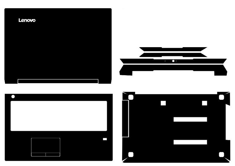 Speciální kožené uhlíkové vlákno Vinylové samolepky Krycí ochranný kryt pro Lenovo IdeaPad V310 15 15ISK 15,6-palcový nontouchscreen