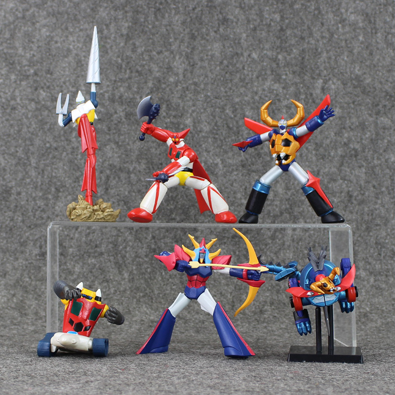 6pcs/lot Mazinger Z PVC Action Figures Collection Model Toys Kids Birthday Gifts With Retail Box 5.5-16cm