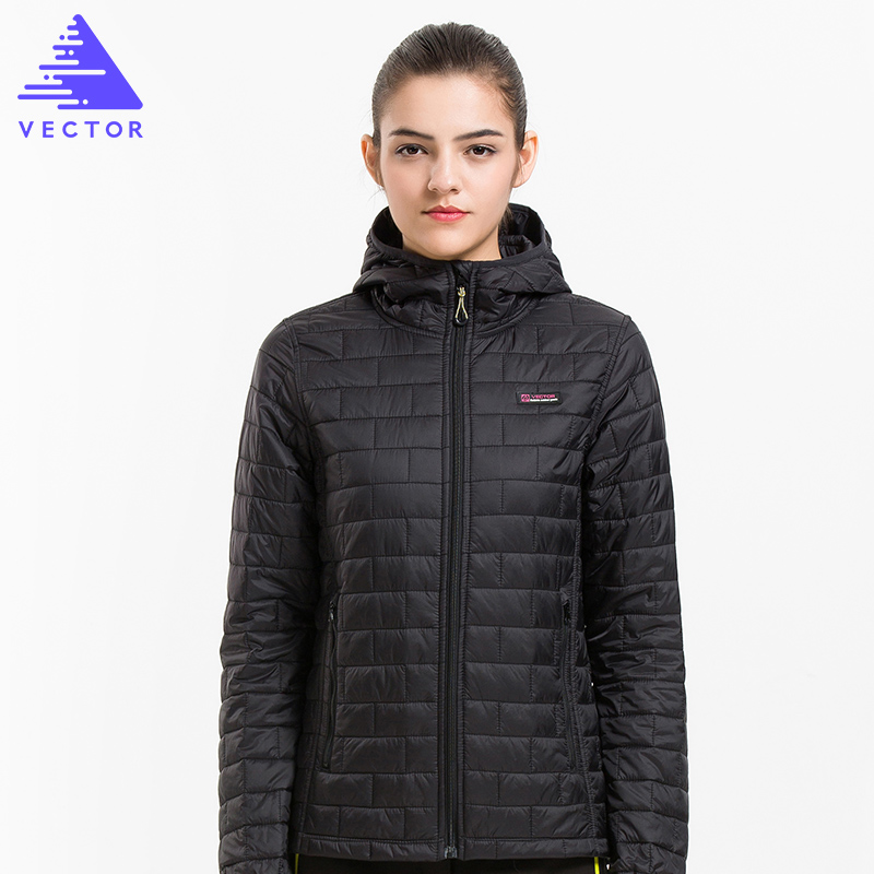 VECTOR Winter Jacket Women Ultralight Warm Down Cotton Thin Coat Thermal Waterproof Outerwear 60030 women winter coat jacket 2017 hooded fur collar plus size warm down cotton coat thicke solid color cotton outerwear parka wa892