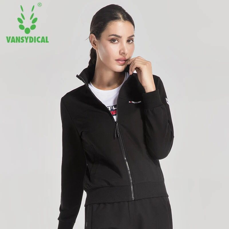 Vansydical Autumn Winter Women s Yoga Shirts Long Sleeve Yoga Tops Sportswear Fitness Gym Sport Jackets