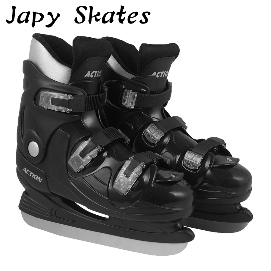 Jus japy Patins D'action Patins À Glace Dur Boot Chaussures de Hockey Sur Glace Enfant adulte Patins À Glace Hockey Professionnel Couteau Chaussures la Vraie Glace patins