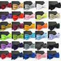 2017 Laços para Homens Moda Clássico Smoking Cor Sólida Mista Borboleta Festa de Casamento Bowtie Bow Tie
