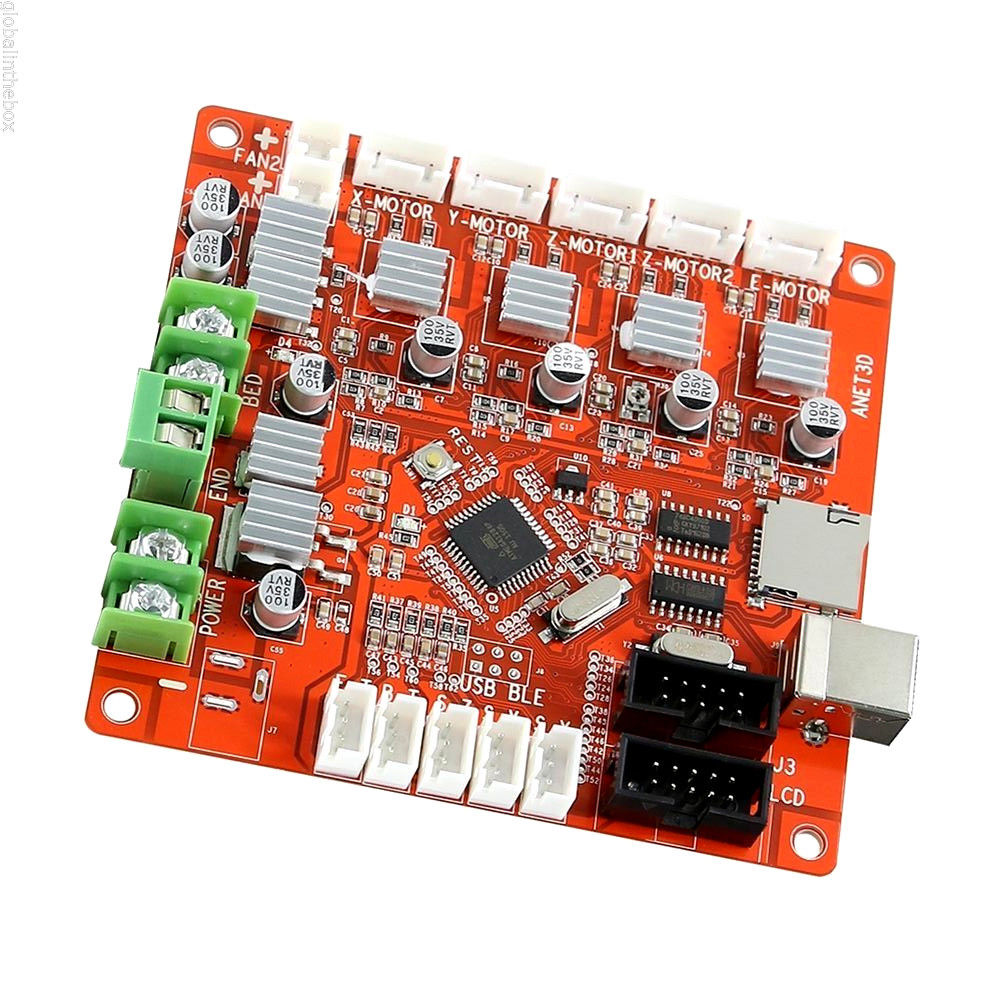 A Funssor Anet A8 3D Printer Mainboard Anet V1.0 For Reprap Mendel Prusa Control Motherboard dc24v cooling extruder 5015 air blower 40 10fan for anet a6 a8 circuit board heat reprap mendel prusa i3 3d printer parts
