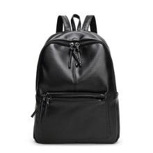 Новинка 2017 года Путешествия Рюкзак Женщины Рюкзак Vintage рюкзаки для девочек-подростков для отдыха студент школьный из мягкой искусственной кожи женская сумка