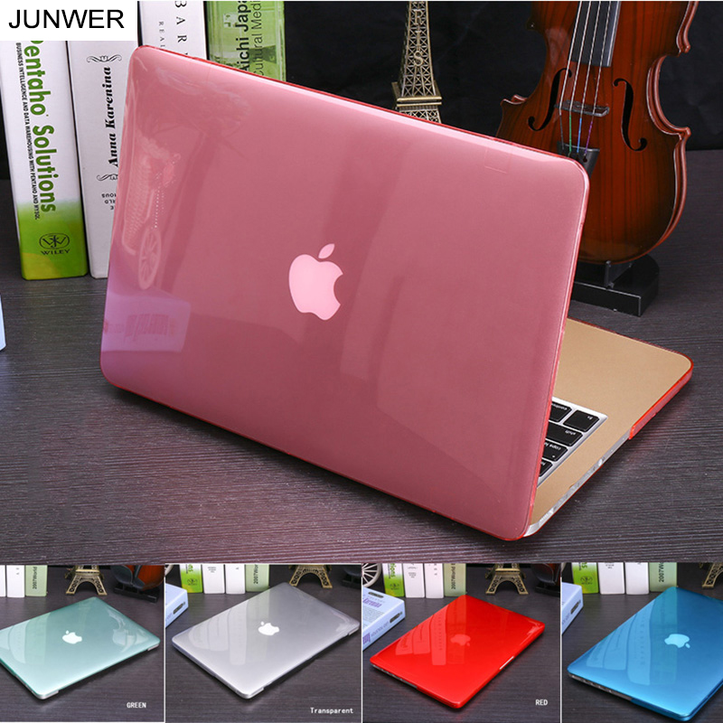 JUNWER Crystal\Matte Transparent Case For Apple Macbook Air Pro Retina 11 12 13 15 For Macbook Air 13 Laptop Case Cover  matte plastic protective case cover for 2012 new apple macbook pro 15 4 inch with retina display a1398 transparent