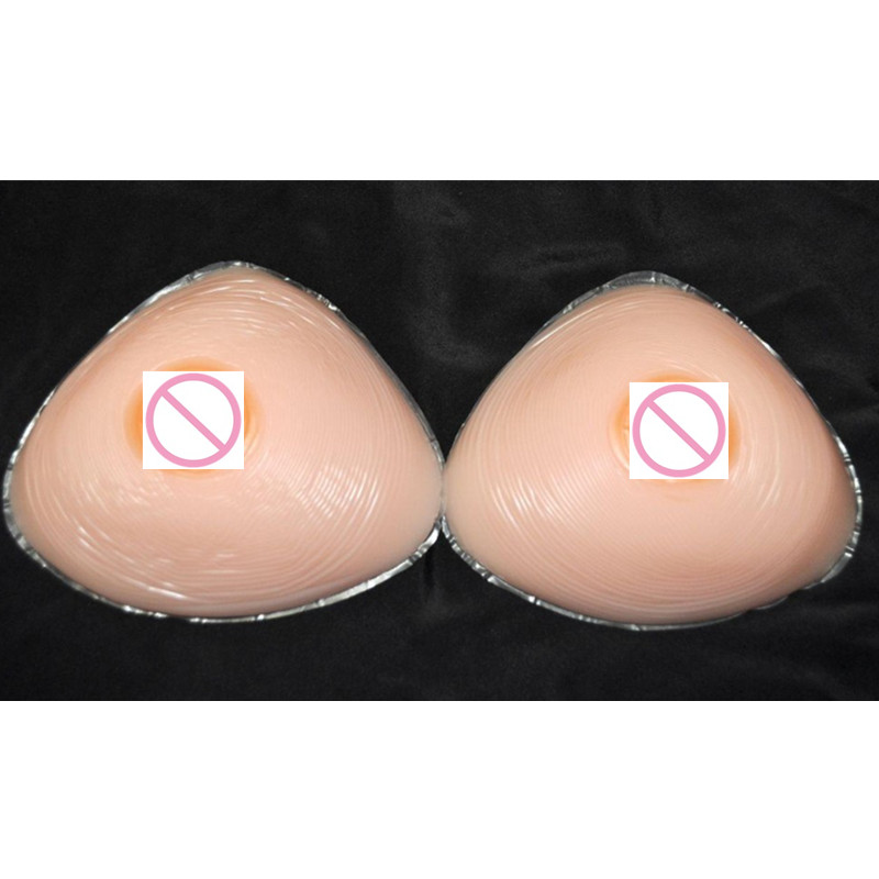 700g/Pair C/D Cup Cheap Hot Selling Sex Silicon Breast Forms Artificial Fake Boobs Triangle Shape for Shemale or Cross-dresser 2000g pair h i cup huge sexy cross dressing artificial silicon boobs shemale or crossdresser silicone breast forms prothetics