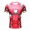 Iron Man T Shirt Captain America Civil War Tee 3D Printed T-shirts Men Marvel Avengers 3 Short Sleeve Fitness Red Clothing Male