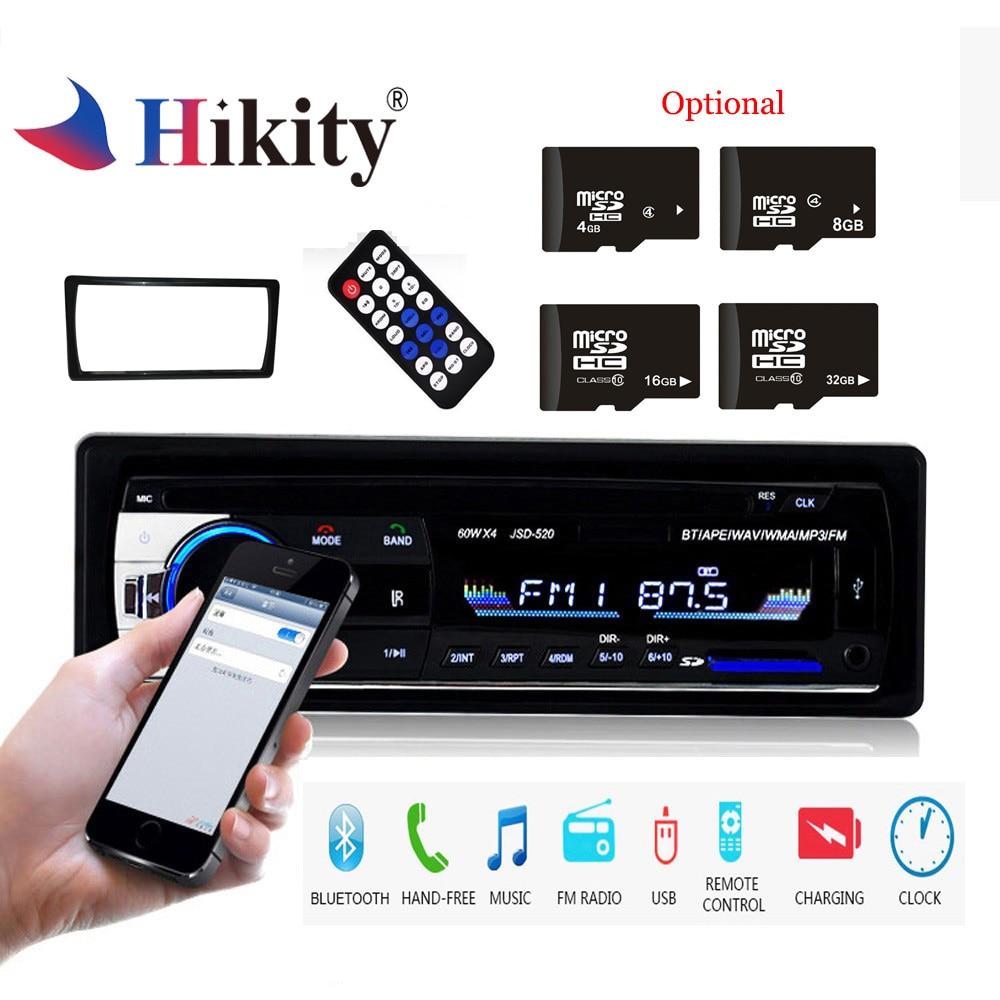 Hikity 1 Din JSD 520 Bluetooth font b Radio b font SD MP3 Player font b