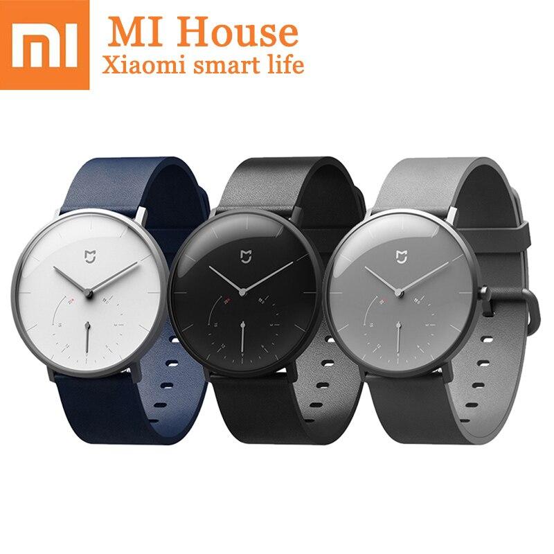Xiaomi Mijia Quartz montre intelligente podomètre rappel d'appel réveil Couple étanche mode montre intelligente Smartwatch cadeau