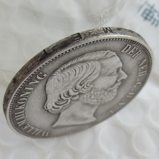 Netherlands William III 2 1 Gulden Silver Copy Coins High