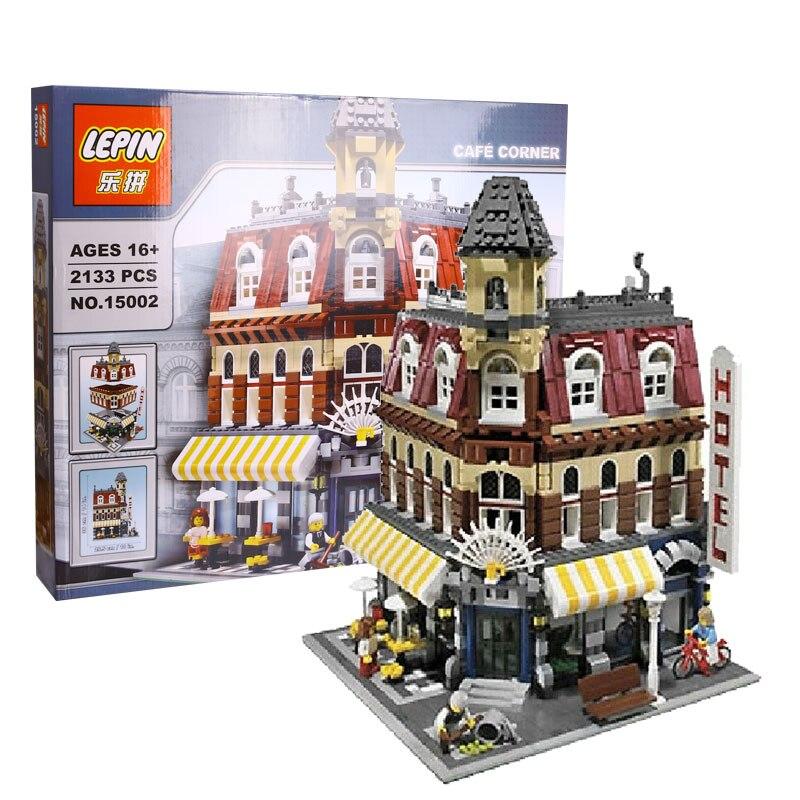 ФОТО 2016 New 2133Pcs LEPIN 15002 Cafe Corner Model Building Kits  Blocks Kid Brick Toy Gift Compatible With 10182