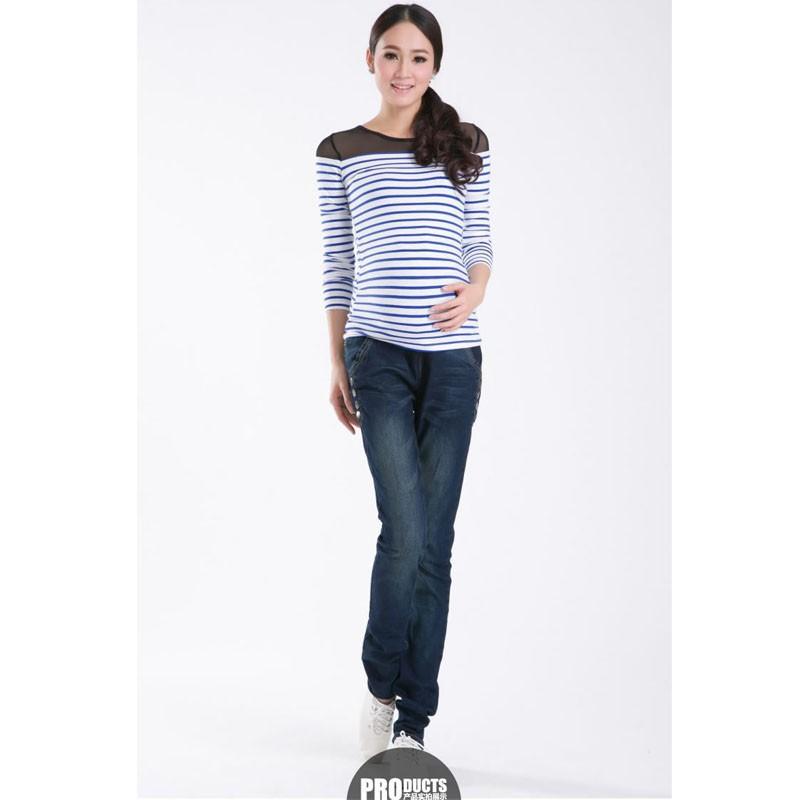 Spodnie Ciążowe jeansowe Spodnie Jeansowe Spodnie Dla Kobiet W Ciąży Ciąża Odzież Laktacja Ropa Para Embarazadas 2017 Ubrania Matki 9