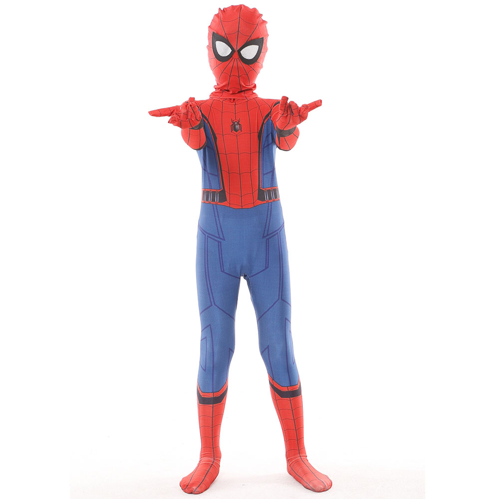 Kids Adult Spiderman Homecoming Costume Spandex Zentai Costume Civil War Spiderman Costumes Spiderman Cosplay Custom Suit