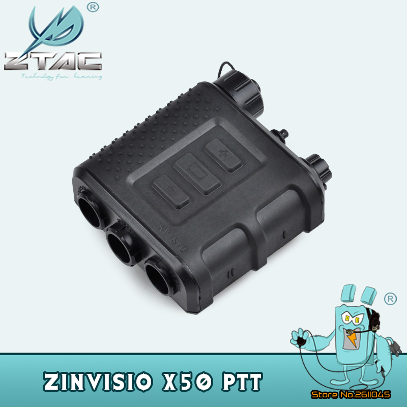 Z tac Tactical PTT ZInvisio X50 For Baofeng BF Radio Kenwod For Military Tactical Headset Z121