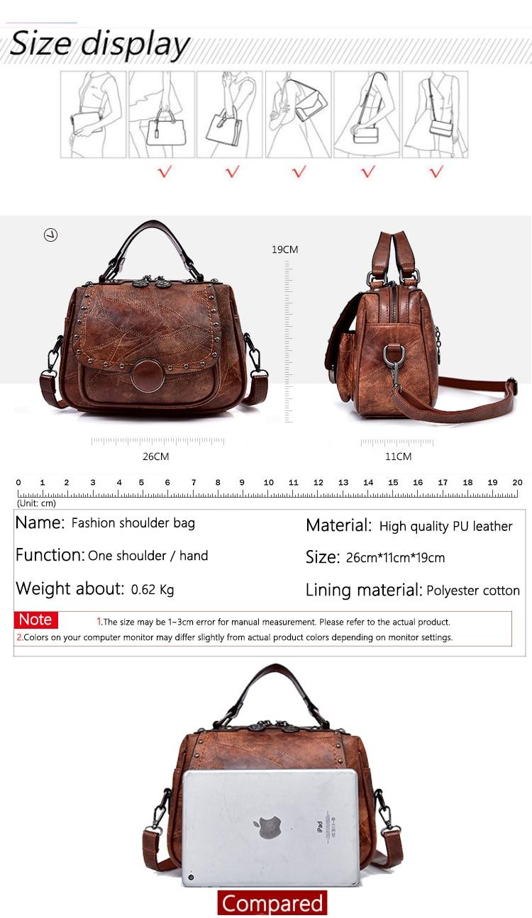 qualidade saco das senhoras ombro designer retro
