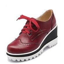 Plus Größe 34-43 Frauen Pumps Fashion Round Toe Lace-Up Med Heels Ankle Boots Frau Schuhe Schwarz weiß Rot Braun