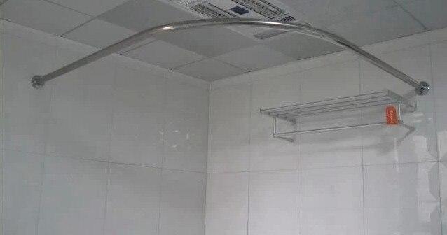 Tende Da Doccia Personalizzate : Set doccia curvo asta di tenda in acciaio inox a forma di u a