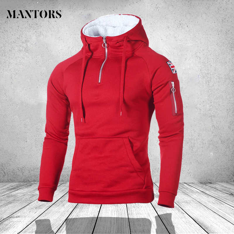 2019 Fashion Casual Solid Sweatshirts Men Autumn Outwear Blouse Male Hoodies Hip Hop Long Sleeve Hoody Streetwear Mens Clothing