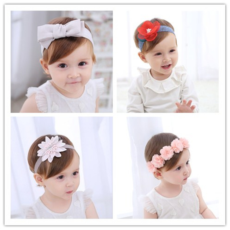 High Quality Dimensional   Flower  Embroidery Headband Korean Girls Hairband  Hair Accessories Shiny Hair Band Scrunchy 10pcs lot high quality hair band with grosgrain ribbon flower for girls handmade flower hairbow hairband kids hair accessories