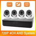 720 P 4CH AHD AHD DVR Kit de Sistema de 4 Canales DVR + 4 Unids de Seguridad CCTV 720 P AHD Cámara Domo Seguridad Para El Hogar Sistema de Vigilancia Kits