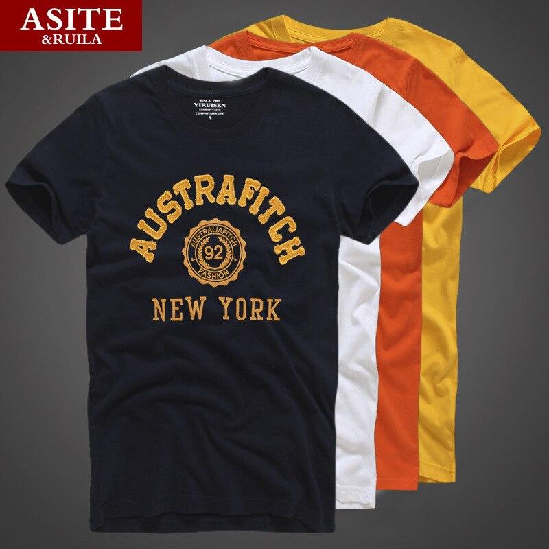 20 styles top quality asite brand summer men t shirt 100 for Best mens t shirt brands