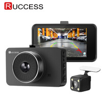 Ruccess H500 Car DVR Dash Cam Camera IPS 3 Inch Full HD 1080P Dual Lens Parking