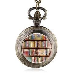 Винтаж Книги кварцевые карманные часы с Цепочки и ожерелья цепь библиотека брелок часы Для мужчин Для женщин подарок