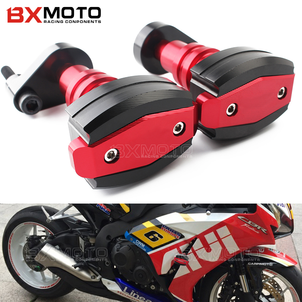 For HONDA CBR1000RR CBR 1000RR CBR 1000 RR 2006 2007 Motorcycle Frame Sliders Crash Engine Guard protection Pad Side Shield motorcycle cnc 6 hole beveled engine side guard derby cover