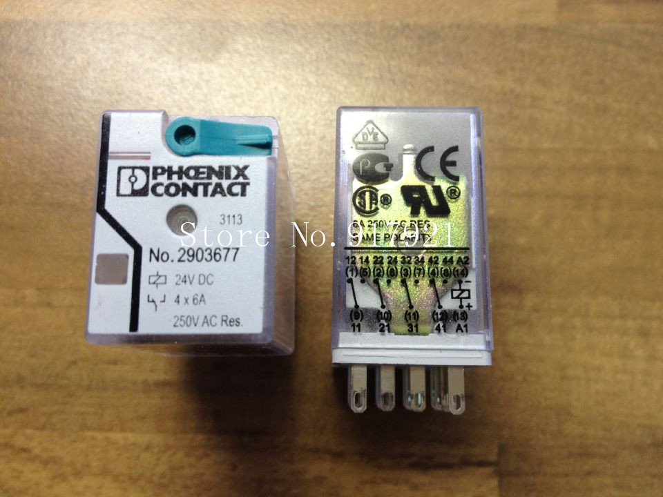 [ZOB] The German PHOENIX CONTACT Feinikesi 2903677 DC24V relay 4X6A genuine original  --5pcs/lot the german issue 2e