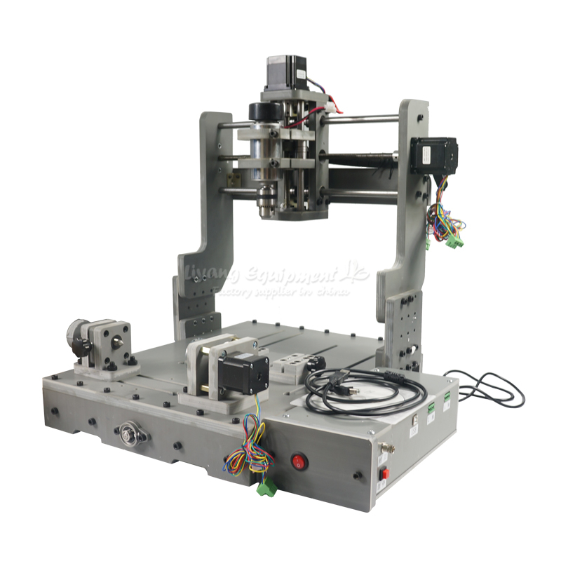 DIY PCB 3D Engraving Drilling and Milling Machine with usb port cnc Mini router 3040 rotary aixs diy cnc router machine 2020 engraving drilling and milling machine with parallel port
