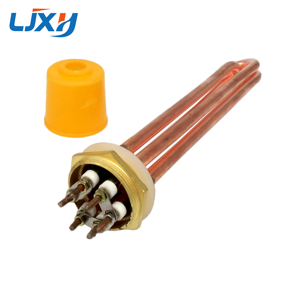 Copper Tube 110V/220/380 Water Heating Element withDN32/1.2inch Copper Thread for Thermostat Water Heater 3KW/4.5KW/6KW/9KW/12KW ac380v 6kw 6p terminals water boiler heating element 3u tube heater