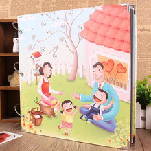 DIY 16 Inch  Family Album Flower Heart Paper Photo Albums Lovers Wedding  Memory AlbumsNewborn Gifts Baby Gift