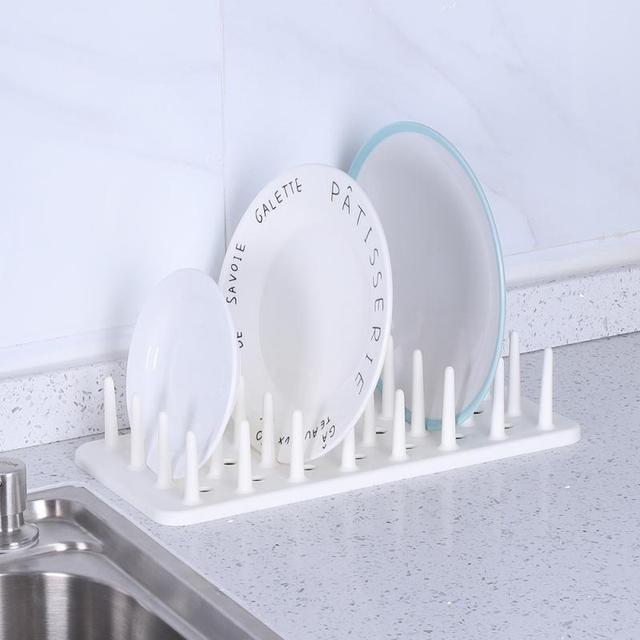 1 Pcs Practical Kitchen Plate Bowl Dish Rack Storage Holder Vertical Dishes Drain