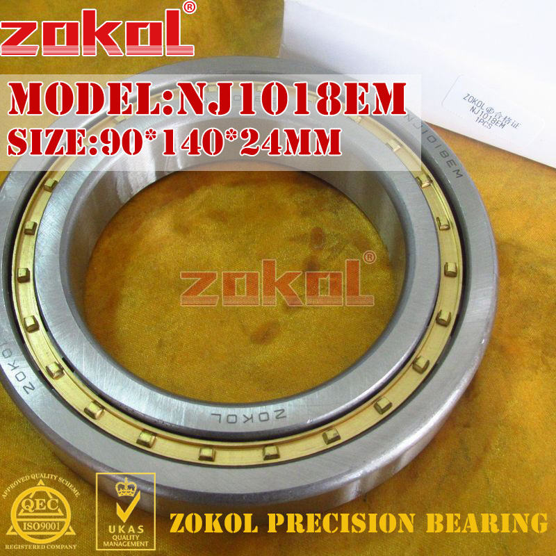 ZOKOL NJ1018 E M bearing NJ1018EM 42118EH Cylindrical roller bearing 90*140*24mm zokol bearing nj424em c4 4g42424eh cylindrical roller bearing 120 310 72mm