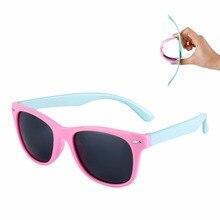 Гибкие детские солнцезащитные очки, поляризационные, защитные, для детей, для малышей, с покрытием, солнцезащитные очки, UV400, солнцезащитные очки, для младенцев, oculos de sol#241691