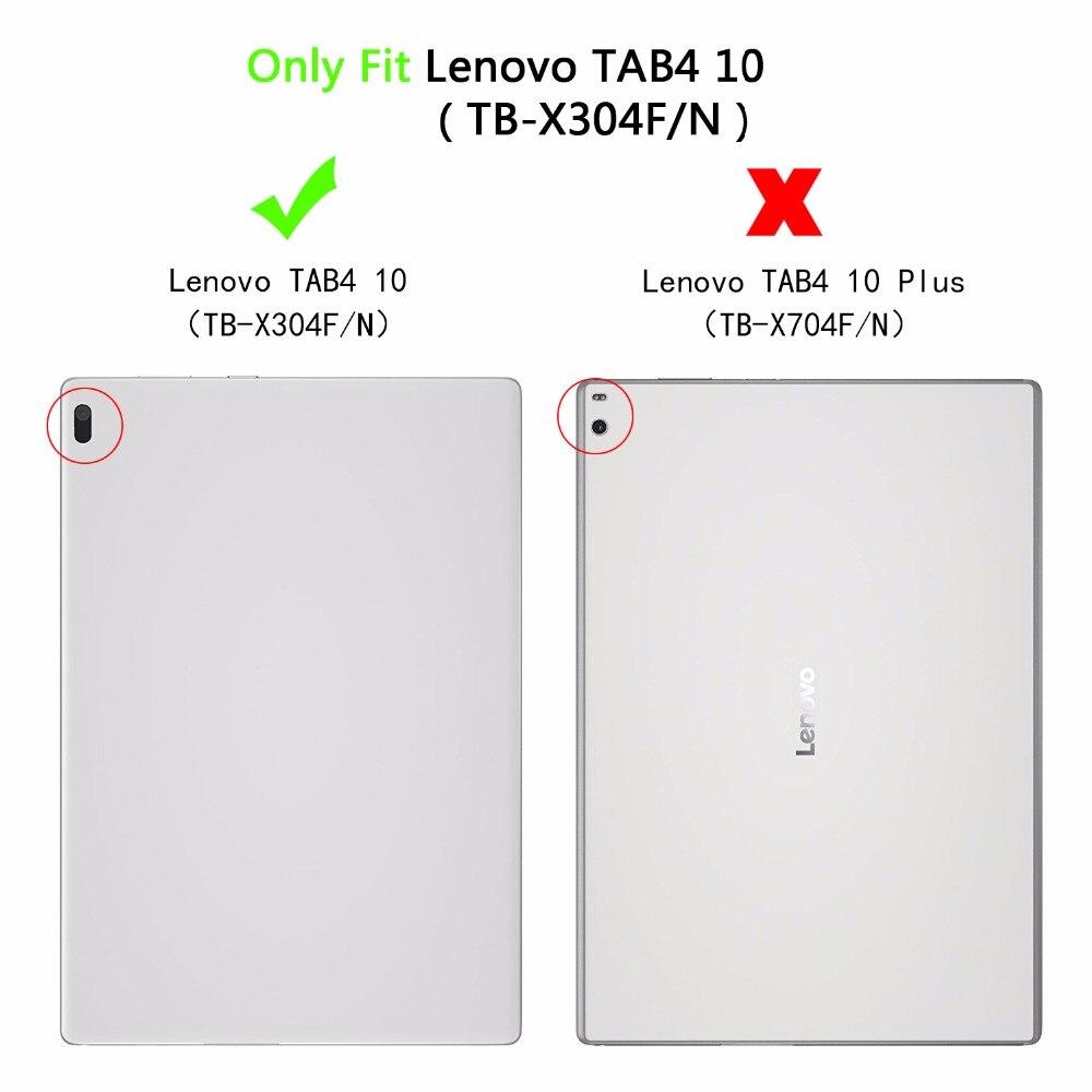 Чехол Smart Case для Lenovo Tab 4 10 10.1 дюймов искусственная кожа складной Фолио магнитной сна бодрствования чехол для Lenovo tab 4 10 10.1 дюймов