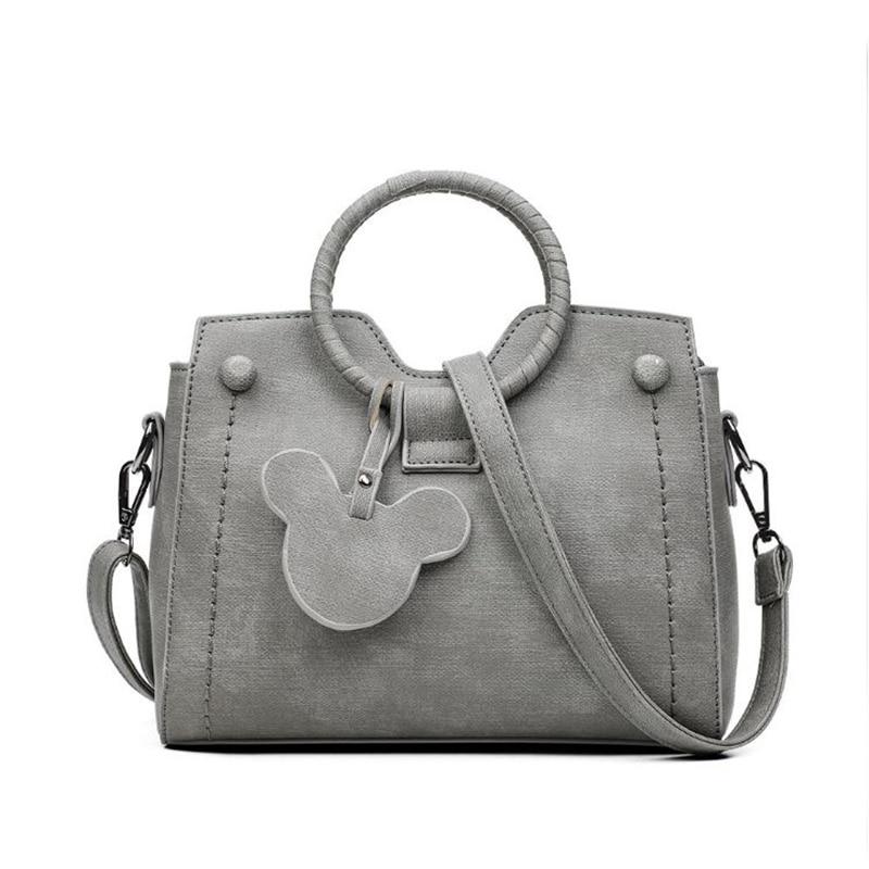 De cuero de las mujeres bolsos de mano bolsa de mensajero femenino de la manera