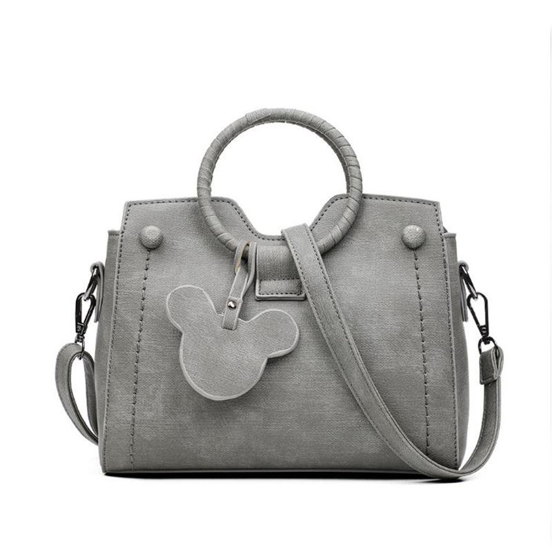 Women Leather Handbags Tote Bag Fashion Female Messenger Shoulder Bags High Quality Brand Mickey Design Women Bag Clutch Bolsa aosbos fashion portable insulated canvas lunch bag thermal food picnic lunch bags for women kids men cooler lunch box bag tote