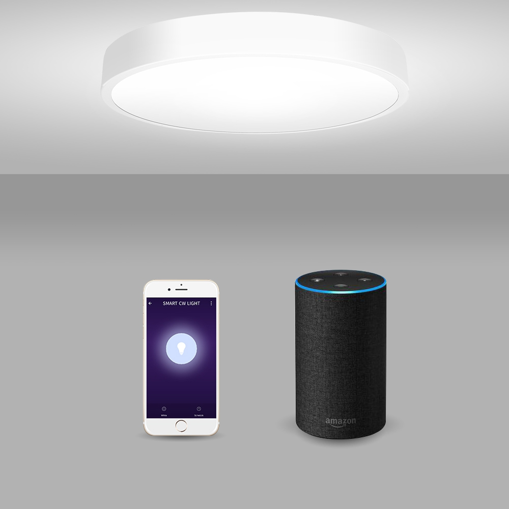 LED Ceiling Lamp Smart Voice App Control Dimmable Light Lights 220V 18W Support with Alexa / Google Home Intelligent