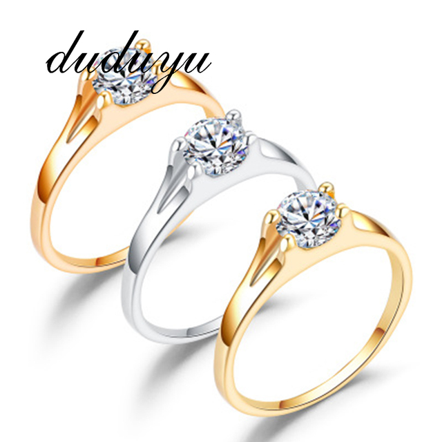 Top Quality Handmade Women Ring Fashion AAA Austrian CZ Crystal Rose Gold Color Rings Party Bride Princess Wedding Band Gift 1