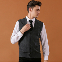 Asian Size Men's Sweater Cardigan Buttons Down Knit Jacket Basic Vest Sleeveless Wool Stylish Casual Fashion K 9