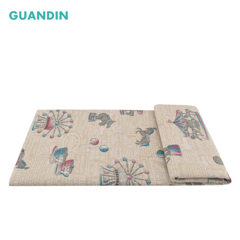 GUANDIN,Handmade Hometextile Fabrics Cloth Funiture Table Cover Sofa Cushion Throw Pillow Cotton Linen Fabric For 100*145cm