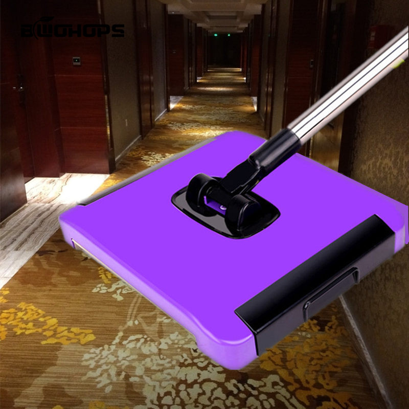 2019 NEW Household Hand Push Carpet Sweeping Hair Lint Spinning Sweepers Brush Magic Broom Machine Without Electricity(China)